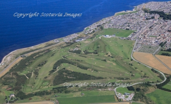 Aerial photography Scotland  Buckpool golf club